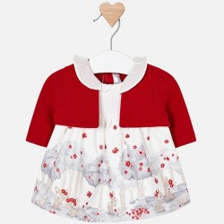 Mayoral Sukienka 2806-75 ze sweterkiem dla dziewczynki