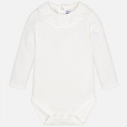 Mayoral Body 125-93 białe z kołnierzem z falbanek dla dziewczynki