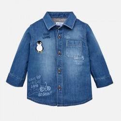 Mayoral Koszula 2126-05 jeansowa z długim rękawem dla chłopca