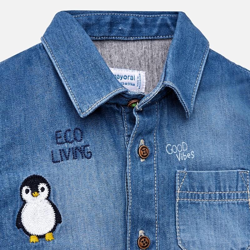 Mayoral Koszula 2126 05 jeansowa z długim rękawem dla  V30vy