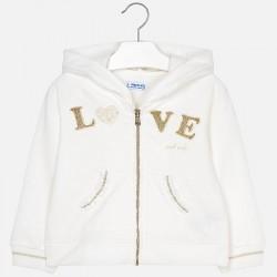 Bluza Mayoral 3411-17 Bluza z kapturem LOVE dla dziewczynki