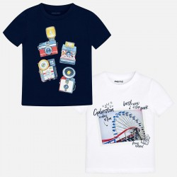 Bluzka Mayoral 3044-45 Zestaw koszulek z krótkim rękawem dla chłopca