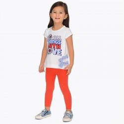 Komplet Mayoral 3703-90 Komplet koszulka z nadrukiem i leginsy dla dziewczynki