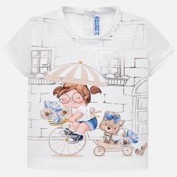 Bluzka Mayoral 1010-33 Koszulka z krótkim rękawem lalka dla dziewczynki Baby