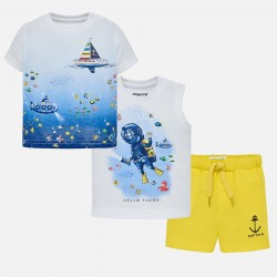 Komplet Mayoral 1644-82 Komplet koszulki z szortami Nurek dla chłopca Baby