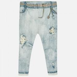 Spodnie Mayoral 1739-61 Leginsy długie z dziurami dla dziewczynki Baby