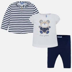 Komplet Mayoral 1742-63 Komplet żakiecik z koszulką Miś i leginsami dla dziewczynki Baby