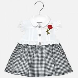 Sukienka Mayoral 1933-31 Sukienka z dołem vichy dla Baby dziewczynki