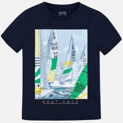 Bluzka Mayoral 6032-53 Koszulka z krótkim rękawem z nadrukiem dla chłopca