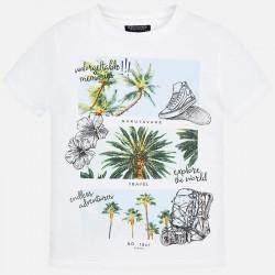 Bluzka Mayoral 6034-29 Koszulka z krótkim rękawem Palmy dla chłopca