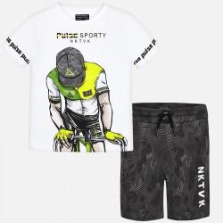 Komplet Mayoral 6601-29 Komplet koszulka i bermudy Kolarz dla chłopaka