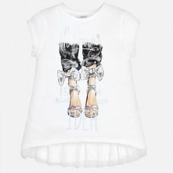 Bluzka Mayoral 6009-29 Koszulka z krótkim rękawem z falbankami na plecach dla dziewczyny