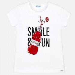 Bluzka Mayoral 6019-16 Koszulka z krótkim rękawem z cekinami dla dziewczyny