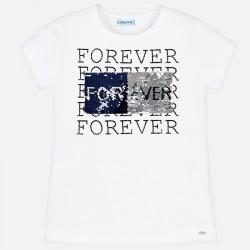Bluzka Mayoral 6019-17 Koszulka z krótkim rękawem z cekinami dla dziewczyny