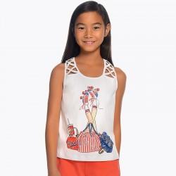 Bluzka Mayoral 6031-63 Koszula bez rękawów dla dziewczyny