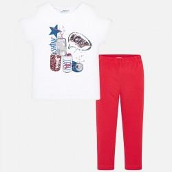 Komplet Mayoral 6215-53 Komplet koszulka z szortami dla dziewczyny