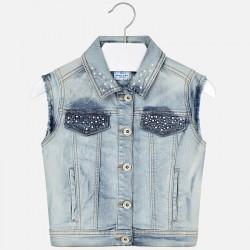Kamizelka Mayoral 6304-14 Kamizelka jeansowa z aplikacją dla dziewczyny
