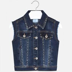 Kamizelka Mayoral 6304-15 Kamizelka jeansowa z aplikacją dla dziewczyny