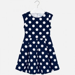 Sukienka Mayoral 6943-29 Kontrastująca sukienka w groszki dla dziewczyny