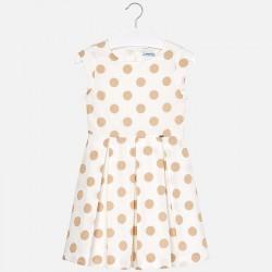 Sukienka Mayoral 6943-30 Kontrastująca sukienka w groszki dla dziewczyny