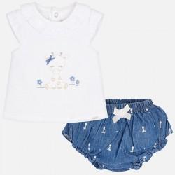 Komplet Mayoral 1102-90 Komplet z bluzeczką dla dziewczynki Newborn