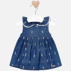 Sukienka Mayoral 1808-39 Sukienka na ramiączkach z kołnierzykiem dla dziewczynki Newborn