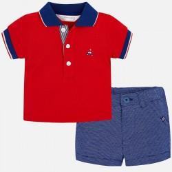 Komplet Mayoral 1215-55 Komplet koszulka polo i szorty dla chłopca Newborn