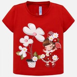 Bluzka Mayoral 1014-14 Koszulka z krótkim rękawem i nadrukiem dla dziewczynki Baby