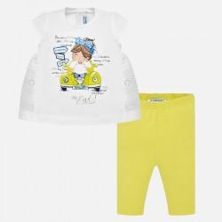 Komplet Mayoral 1750-70 Komplet koszulka i leginsy Autko dla dziewczynki Baby