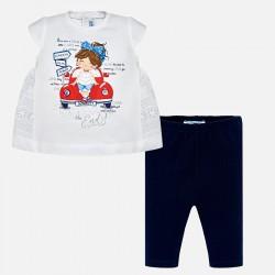 Komplet Mayoral 1750-72 Komplet koszulka i leginsy Autko dla dziewczynki Baby