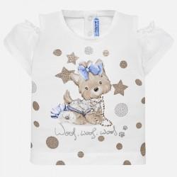 Bluzka Mayoral 1007-54 Koszulka z odkrytymi ramionami dla dziewczynki Baby