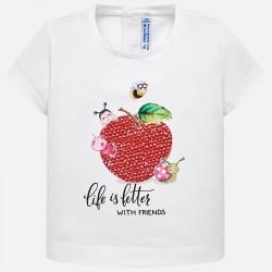 Bluzka Mayoral 1014-13 Koszulka z krótkim rękawem i nadrukiem dla dziewczynki Baby