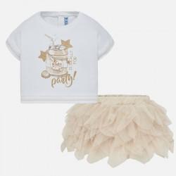 Komplet Mayoral 1950-77 Komplet koszulka i spódniczka tiulowa dla dziewczynki Baby