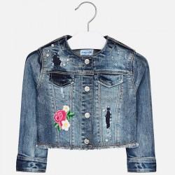 Kurtka Mayoral 3408-50 Marynarka jeansowa z ozdobami dla dziewczynki