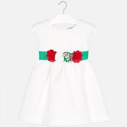 Sukienka Mayoral 3919-24 Sukienka z paskiem w kwiaty dla dziewczynki