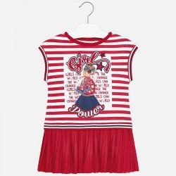 Sukienka Mayoral 3949-90 Sukienka łączona dla dziewczynki