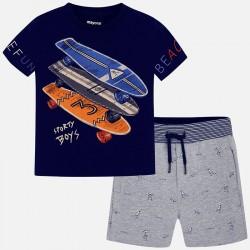 Komplet Mayoral 3605-53 Komplet koszulka z bermudami we wzory dla chłopca