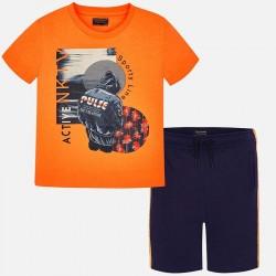 Komplet Mayoral 6603-21 Komplet koszulka i bermudy ACTIVE dla chłopaka