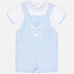 Komplet Mayoral 1619-33 Komplet koszulka i ogrodniczki dla chłopca Newborn