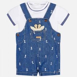 Komplet Mayoral 1619-32 Komplet koszulka i ogrodniczki dla chłopca Newborn