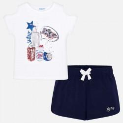 Komplet Mayoral 6215-56 Komplet koszulka z szortami dla dziewczyny