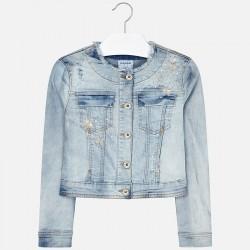 Kurtka Mayoral 6409-34 Kurtka jeansowa z aplikacjami dla dziewczyny