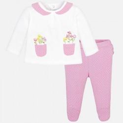 Komplet Mayoral 1502-15 Komplet z półśpiochami i kieszonkami dla dziewczynki Newborn