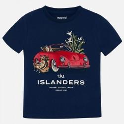 Bluzka Mayoral 3027-84 Koszulka z krótkim rękawem z autem dla chłopca