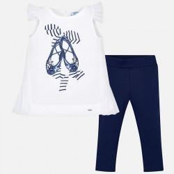 Komplet Mayoral 3512-41 Zestaw koszulki i długich spodni dla dziewczynki
