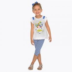 Komplet Mayoral 3709-48 Komplet koszulka i leginsy dla dziewczynki