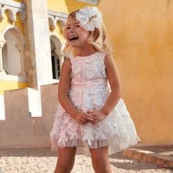 Sukienka Mayoral 3907-91 Sukienka z tiulem i kwiatami dla dziewczynki
