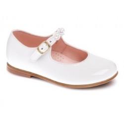 Białe buty komunijne lakierowane dziewczęce Pablosky 330709