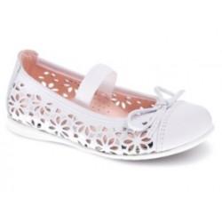 buty ażurowe komunijne dla dziewczynki białe Pablosky 331703