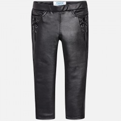 Spodnie Mayoral 4544-21 Spodnie z elastyczne ekoskóry dla dziewczynki